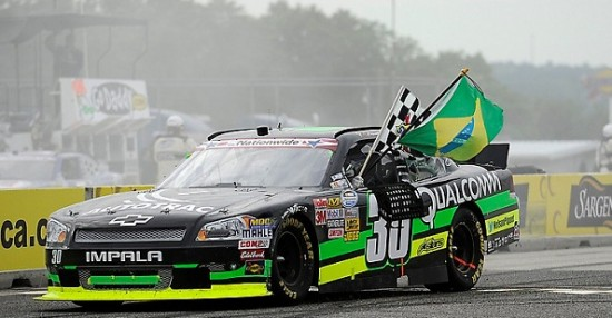 Nelson Piquet Jr,. wins the NASCAR Nationwide Series Sargento 200 at Road America in Elkhart Lake, Wisconsin on June 23, 2012. Rusty Jarrett MRD/CIA