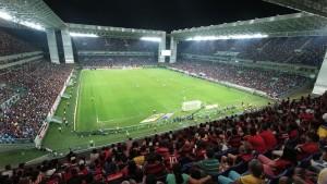 Estádio em Cuiabá lotado de flamenguistas (10/09/14).