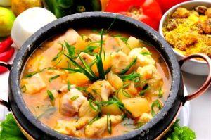 Mojica de Pintado, comida típica de Cuiabá.
