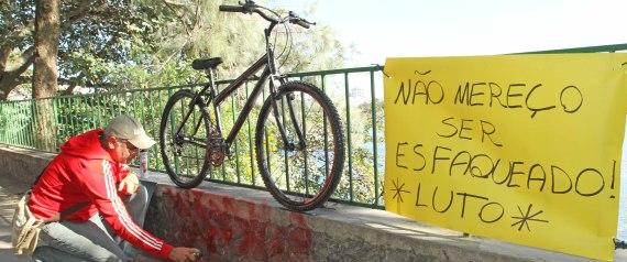 ONG Rio de Paz realizou um ato público ao redor da Lagoa Rodrigo de Freitas