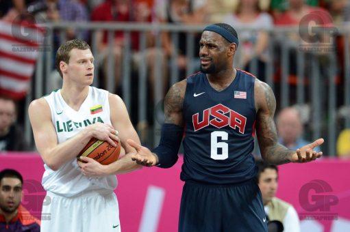 Londres; Inglaterra; 03/08/2012; Jogos Olimpicos de Londres; Basketball Arena; Basquete Masculino; EUA x LITUANIA; Foto de Gaspar Nobrega/GazetaPress